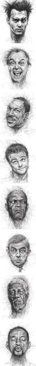 Amazing Face Sketches By Vince Low