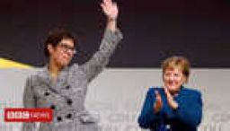 Merkel's choice elected ruling party leader