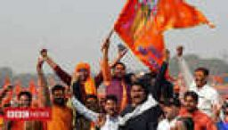 Hindus rally in Delhi over disputed site