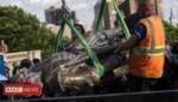 Columbus and Confederate statues torn down in US