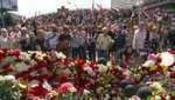 Thousands attend Belarus protester's funeral