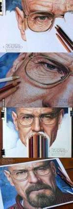 Breaking Bad - Hyperrealism in crayon