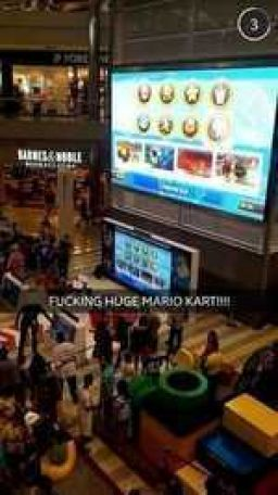 Mall of America is a current host of Play Nintendo... Thus, gigantic Mario Kart.